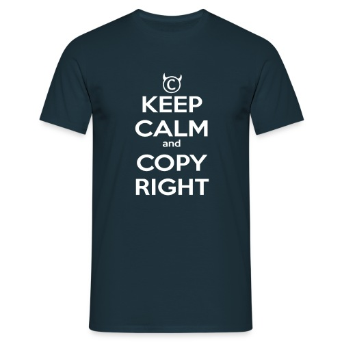 Keep Calm and Copyright - Tank for the individual - Männer T-Shirt