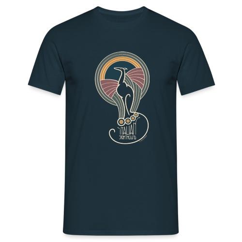 italian sighthound jugendstil 7 - Mannen T-shirt