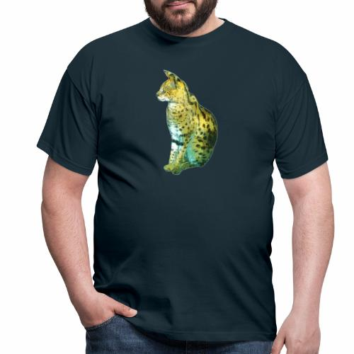 Schöner sitzender Serval - Männer T-Shirt