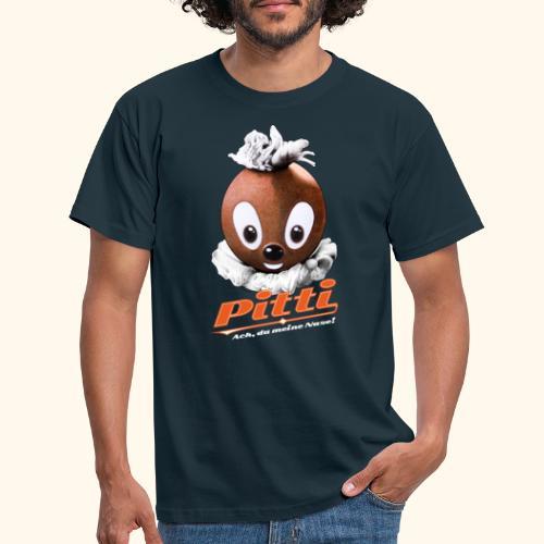 Pittiplatsch 3D Ach, du meine Nase auf dunkel - Männer T-Shirt