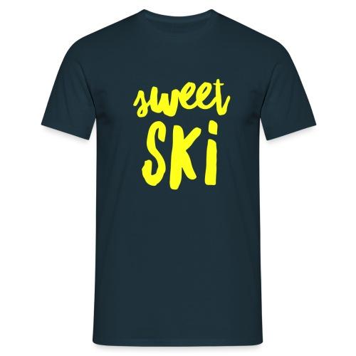 Sweet Ski Yellow - Männer T-Shirt