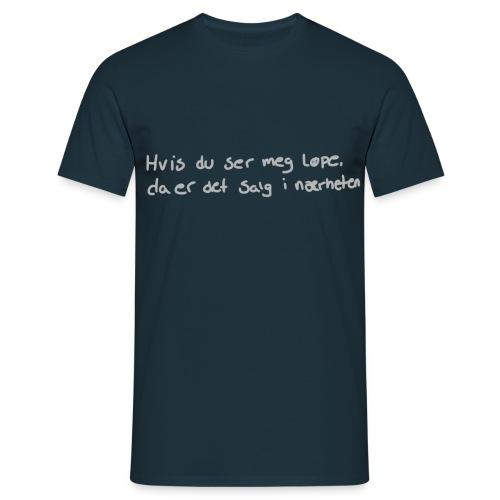 Salg løpe - T-skjorte for menn