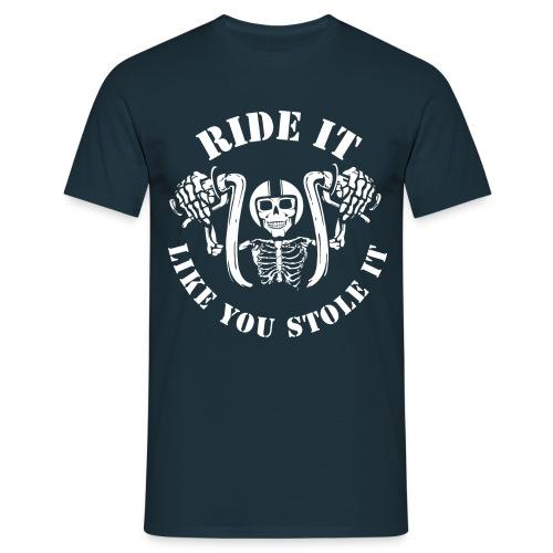 ride it neg - Männer T-Shirt