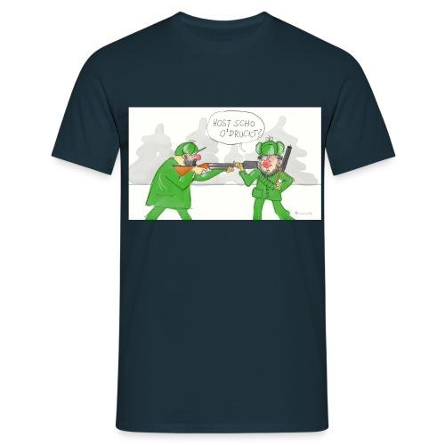 Seli´s Cartoon: Die jagdlichen Schalldämpfer - Männer T-Shirt
