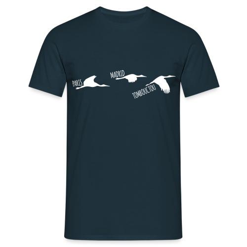 3 horizons oiseaux white - T-shirt Homme