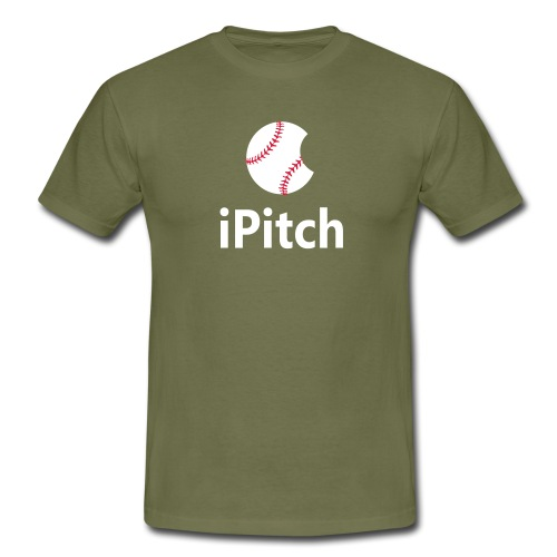 Baseball Logo iPitch - Men's T-Shirt