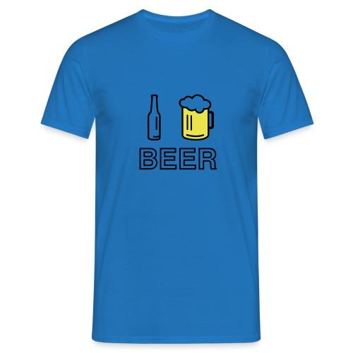 I Love Beer (2-farbig) - Männer T-Shirt