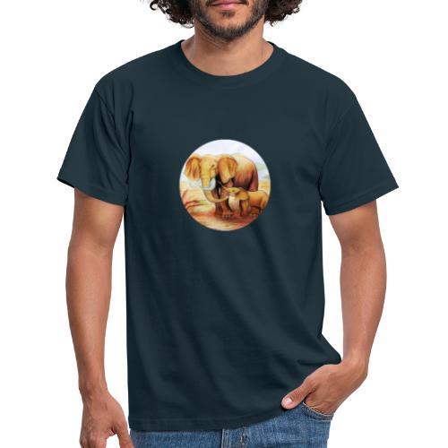 Elephants in Africa - Camiseta hombre