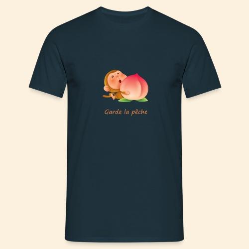 Singe Garde la pêche - T-shirt Homme