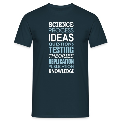 yellowibis sciencetypography2 vec - Men's T-Shirt