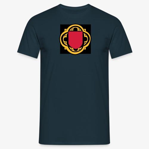 blason ecusson moyen age médiéval vierge à remplir - T-shirt Homme