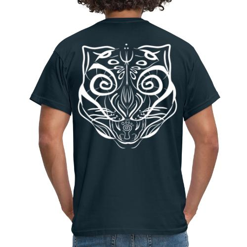 The Parvati Cat by Stringhedelic - White - Men's T-Shirt