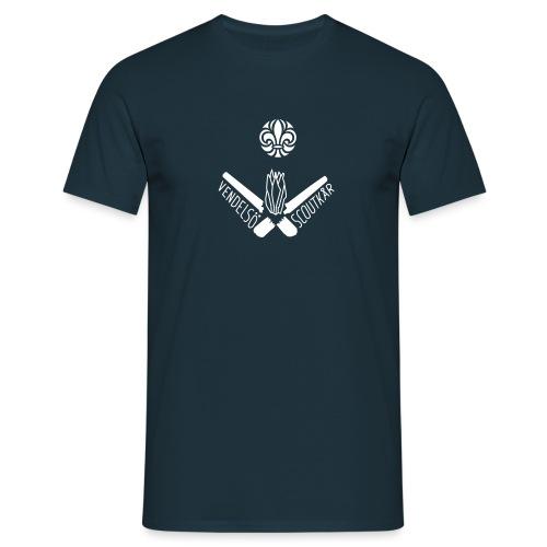 Vendelso Scoutkar logga stor - T-shirt herr