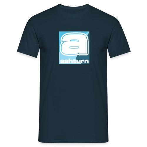 alogospreadshirt blue copybig - Mannen T-shirt