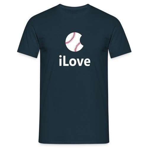 Baseball Logo iLove Baseball - Men's T-Shirt