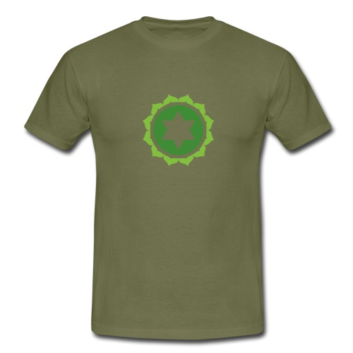 The Heart Chakra, Energy Center Of The Body - Men's T-Shirt
