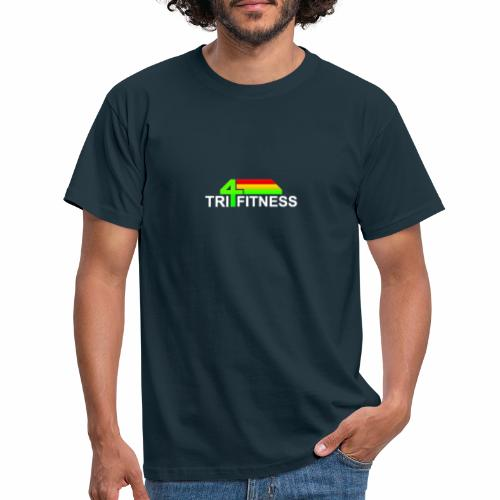 tri4fitnes logo | White text - Men's T-Shirt