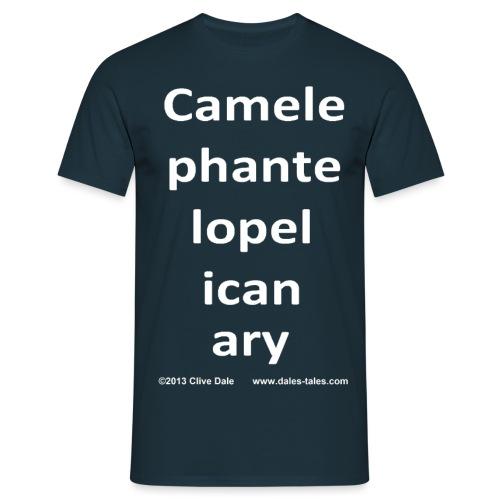 camelepha 5lines white - Men's T-Shirt