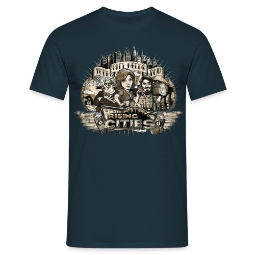 risingcities mb yourcityneedsyou distres - Männer T-Shirt