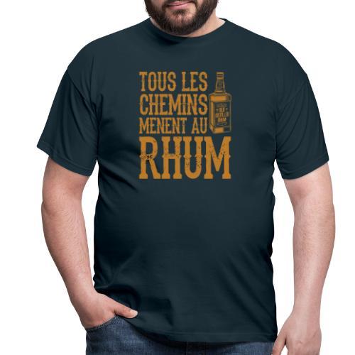 Alcool - Tous les chemins mènent au Rhum - T-shirt Homme