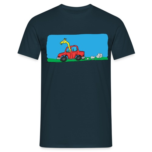 La girafe conductrice - T-shirt Homme