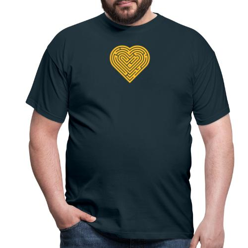 Labyrinth Heart - Men's T-Shirt