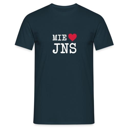 Mie rakastan JNS - Miesten t-paita