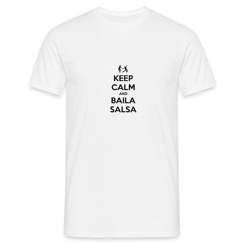 keep-calm-and-baila-salsa-41 - Maglietta da uomo