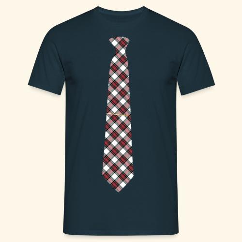 Krawatte 125 mit Goldnadel - Männer T-Shirt