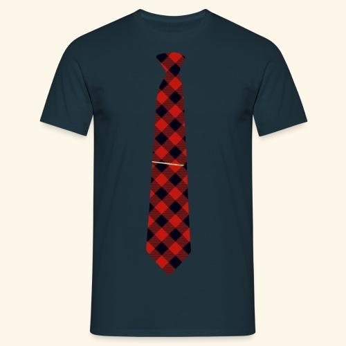 Krawatte 126 mit Goldnadel - Männer T-Shirt