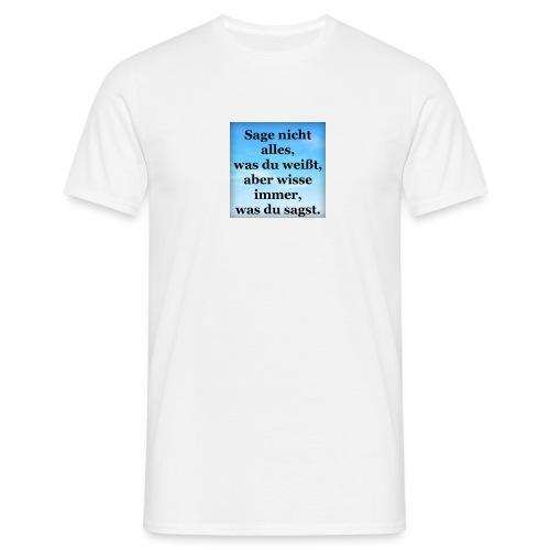 wissen - Männer T-Shirt