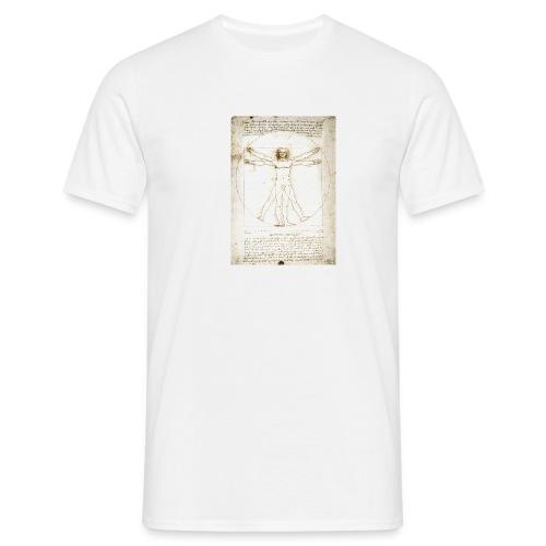 davinci vitruvianman 1492 new v1 - Men's T-Shirt