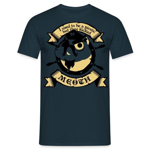 Katze Pirat Spruch - Männer T-Shirt