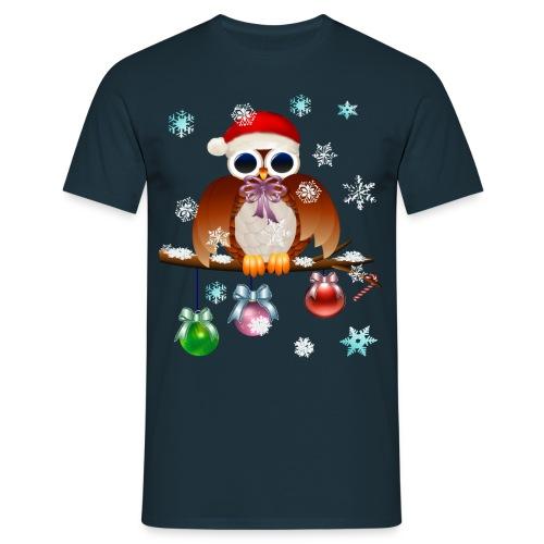 Merry Christmas Owl - Men's T-Shirt