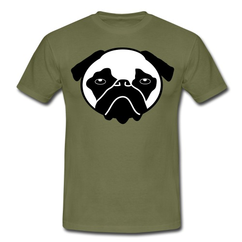Mops, Hund - Männer T-Shirt