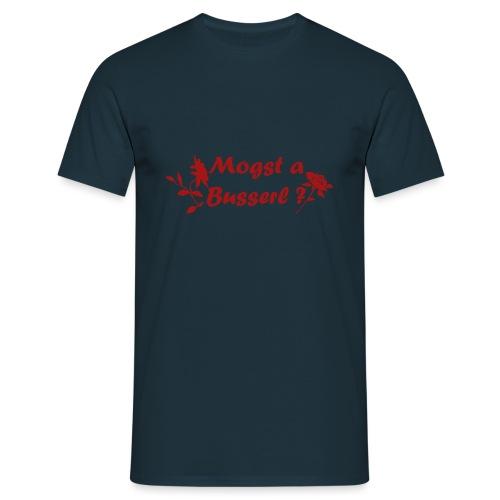Mogst a Busserl - Möchtest du einen Kuss - Männer T-Shirt