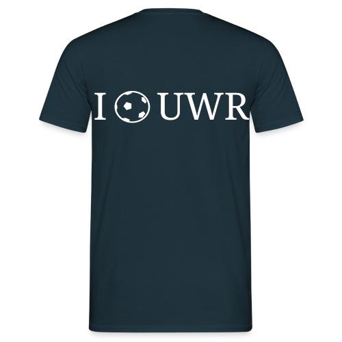 I Love UWR (1 Zeile, Serif, 2Farben) - Männer T-Shirt