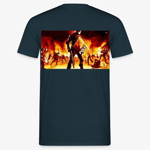 16999 riot police 1920x1080 digital art wallpaper - Mannen T-shirt