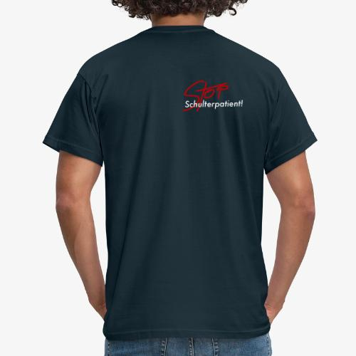 Stop Schulterpatient weiss - Männer T-Shirt