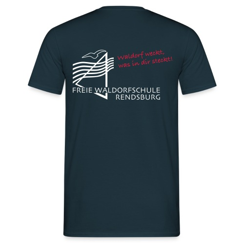 Logo weiss rot - Männer T-Shirt