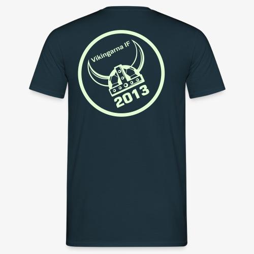 Vikingarna logo hvid - Herre-T-shirt