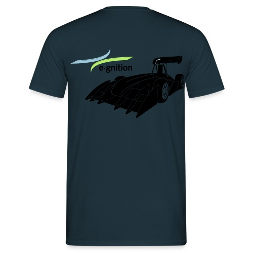 egn Auto schwarz farb log - Männer T-Shirt
