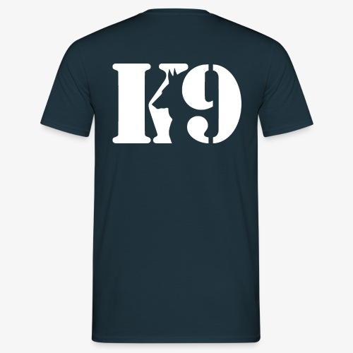 K9 logo WHITE copy - Men's T-Shirt