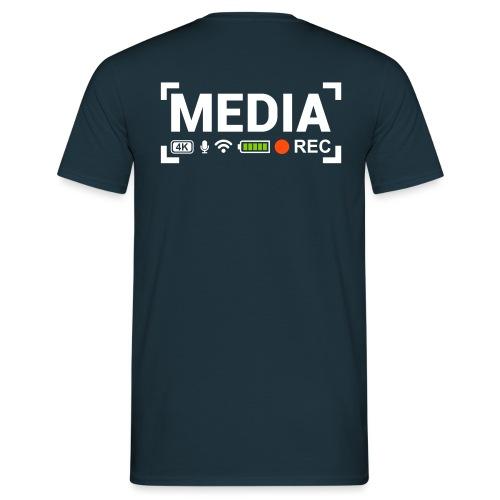 MEDIA Crew - Maglietta da uomo