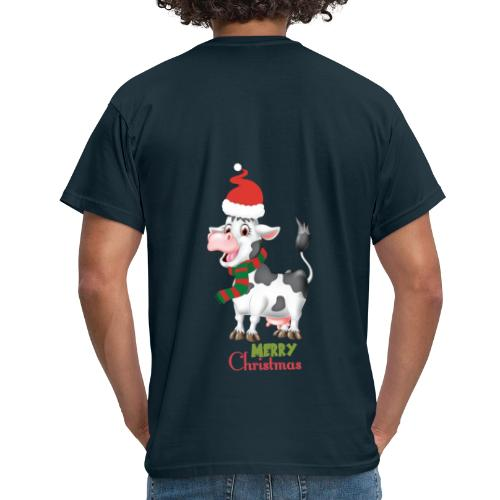 Merry Christmas - cow - T-shirt herr