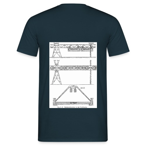 Schwebebahnskizze - Männer T-Shirt