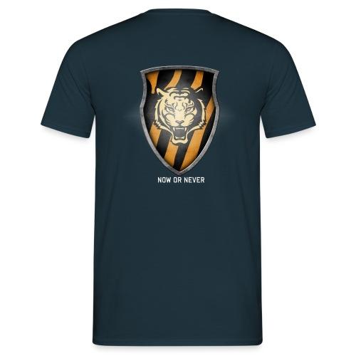 Tiger Plt Big Shield Whit - Men's T-Shirt