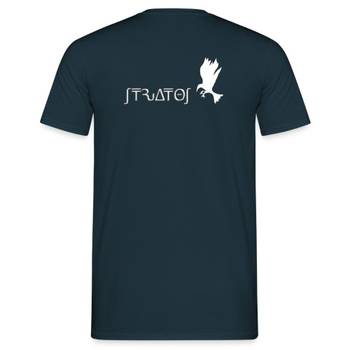 stratos crow white - Men's T-Shirt