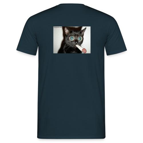 kiffende katze groessa - Männer T-Shirt
