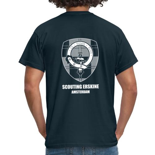 Scouting Erskine_tekst - Mannen T-shirt